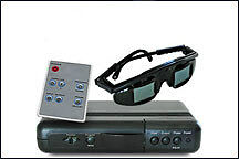 Active 3D for your computer and projector + 3D DVDs.