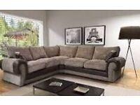Brand New Corner Sofa brown fabric jumbo