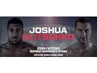 Anthony Joshua vs Klitschko Tickets x2 & Reading Coach Package