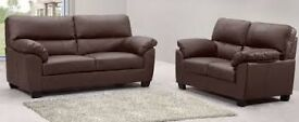 Leather Sofa - 3 Seater + 2 Seater