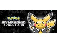 2 Platinum Seat Tickets for Pokémon Symphonic Evolutions 19/12/16