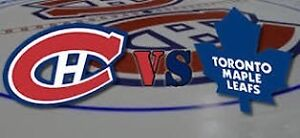 Habs vs Leafs tickets