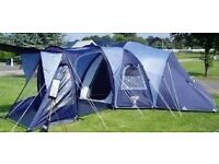 Vango, Diablo 600, 6 person tent, blue, price includes electric hook up, buyer to collect