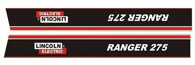 Lincoln Electric Arc Welder Ranger 275 Replacement Hood Decals1-pair