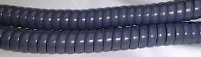 AT&T 25FT 25' Titanium Blue Telephone Handset Coil Curly Cord Wire 945 974 984