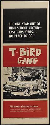 T-BIRD GANG Movie POSTER 14x36 Insert John Brinkley Ed Nelson Tony Miller Pat