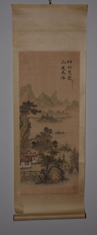 Early 20th Century Chinese Landscape Scroll