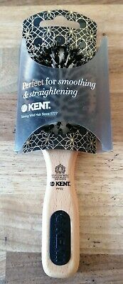 Kent PF02 Bristle Nylon Wooden Smoothing & Straightening  Hair Brush.