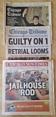 Chicago Tribune Sun Times  The Fate Of Governor Rod Blagojevich  3  Newspapers