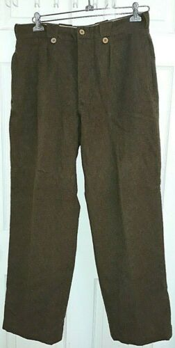 WW2 French Army louviers France Green Wool Military Pants 92m Men