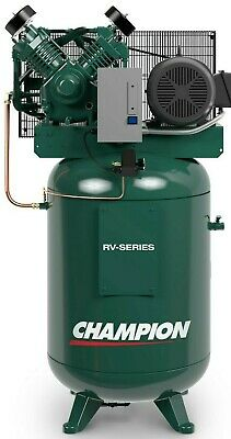 7.5 Hp Champion Shop Air Compressor 230v 1 Ph 80 Gallon Vertical 2 Stage