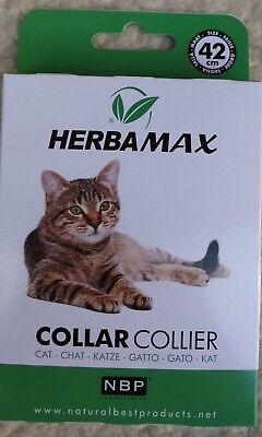 Flohhalsband Zeckenhalsband Katze, Wirkstoff auf Pflanzlicher Basis, Herbamax
