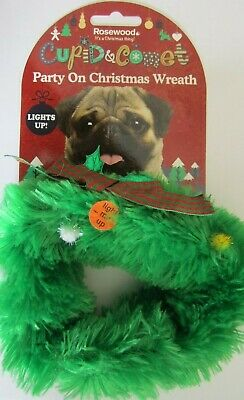 Dog Christmas Party On Wreath Light Up New Freepost