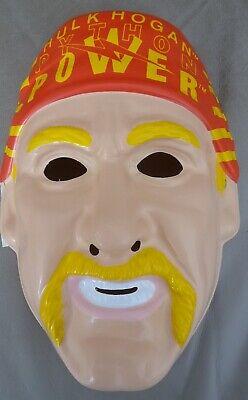 Hulk Hogan WWF Wrestler Light Weight PVC Costume Mask Rubies Licensed New  - Hulk Hogan Halloween Costume