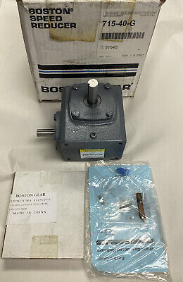 Boston Gear 715-40-g Right Angle Worm Gear Speed Reducer Ratio 401 Nos