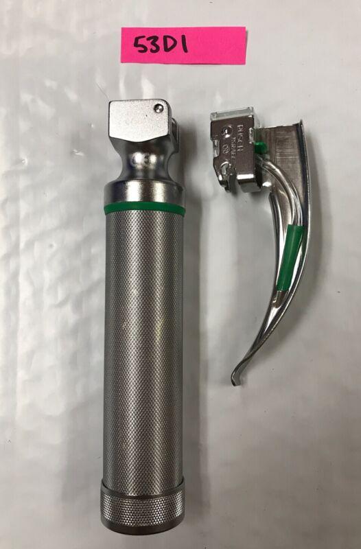 NEW Welch Allyn Fiber Optic Laryngoscope Handle #60813 w/batteries, new bulb!