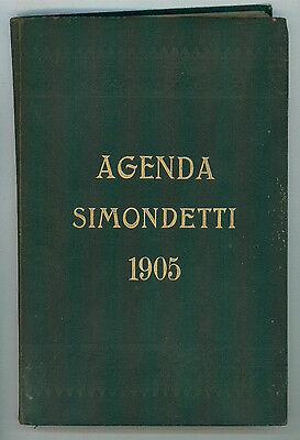 AGENDA 1905 CARLO SIMONDETTI ANNO XXXVI