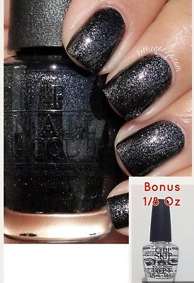 OPI Nail Polish Center Of The You-niverse black HR G38 Bonus Chip Skip 1/8 fl oz