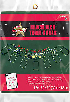 Casino Table Cloth (Casino Night FELT Blackjack Table Cover Game Casino Night Party Games Cloth)