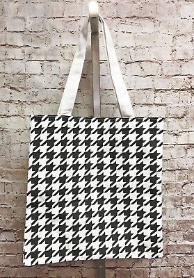 Houndstooth Black & White Eco Canvas B&W Tote