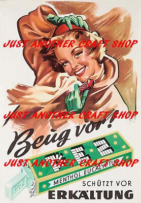 Pez Vintage 1950's Candy Dispenser A3 large size Poster advert sign leaflet