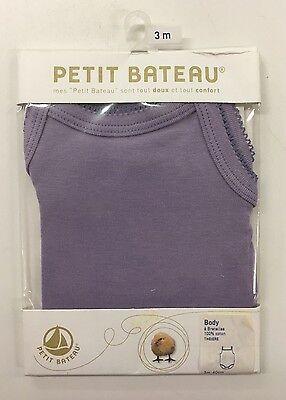 NEW Petit Bateau Baby Girl 1PC Cami Size 3M 100% Cotton Purple
