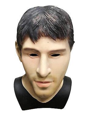 MASCARELLO Realistic Latex Human Mask Male Head Halloween Carnival Messi Mask (Realistic Latex Halloween Masks)
