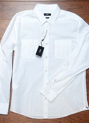 2049c2f4 Hugo Boss Mens Ramsey Slim Fit Double Pocket Stretch Cotton Casual Shirt  NEW 3XL
