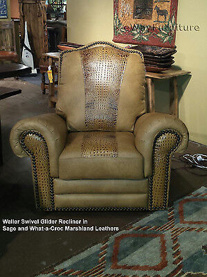 Sage & What-a-Croc 100% Hand Cut Top Grain Leather Recliner Made In USA Texas