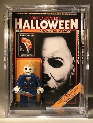 Horror Halloween MichaeL Myers Custom Mini Action Figure wCase &Stand MiniFig351