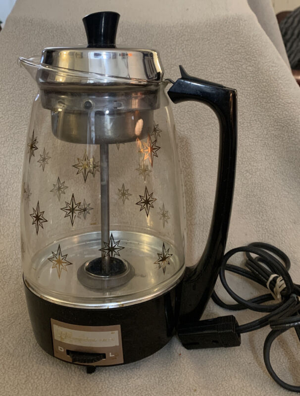 Vintage MCM Gold Star PROCTOR-SILEX SCM Glass Coffee Percolator Model #70503