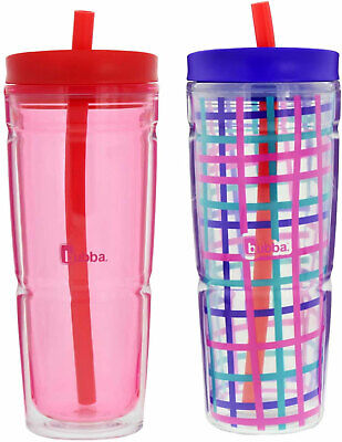 Bubba 2 -Pack Insulated Tumblers / Water Bottle 24 oz with s