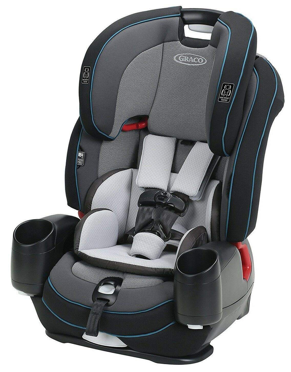 Graco Baby Nautilus SnugLock LX 3-in-1 Harness Booster Car S