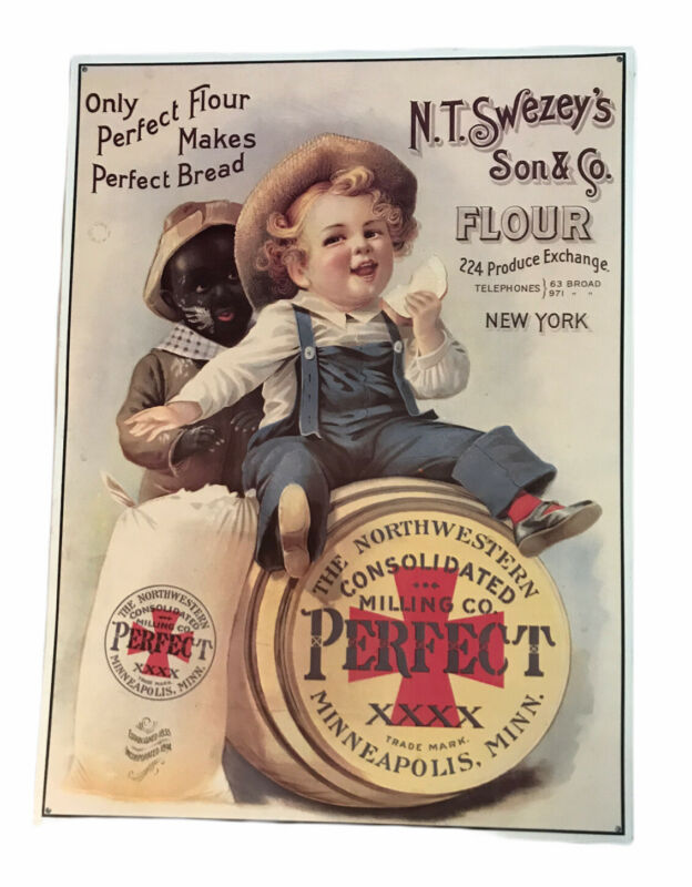 N.T. Swezey's Son & Perfect Flour, Advertising Sign, Reproduction, Americana