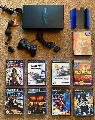 Sony Playstation PS2 Console Bundle 11 Games Controller Memory Card