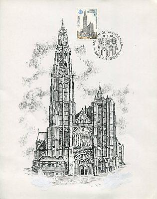 BELGIEN ETB 1981 EUROPA CEPT 1978 ANTWERPEN KATHEDRALE CATHEDRAL z1900 gebraucht kaufen  Deutschland