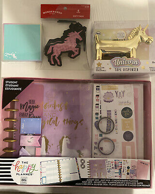 Misc Unicorn Pink Theme Office Desk Stationary Supplies Mixed Lot