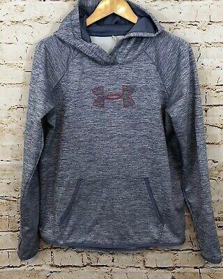 Under Armour Women large Storm Twist Hoodie 1288357 Cold Gear sweatshirt H7