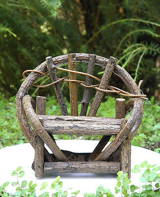 Miniature Dollhouse FAIRY GARDEN Furniture ~ Rustic Vine Double Bench ~ NEW