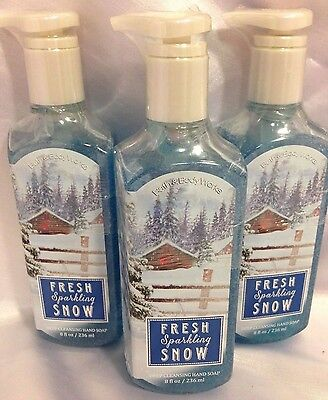 3 bath & Body Works Fresh Sparkling Snow Deep Cleansing Hand Soap