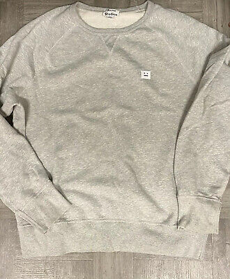 Authentic Acne Studios Gray College Face Sweatshirt XL