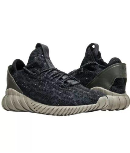 Adidas Tubular Sock Mens 10 Prime Knit Shoes AC7375 Black Ca