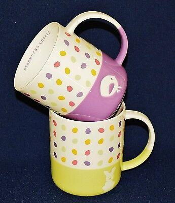 Starbucks easterebay 1 starbucks 2007 set of 2 easter bunny chick 12 ounce mugs wpastel easter negle Gallery