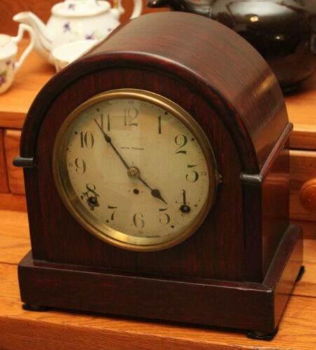 Vintage Seth Thomas Mahogany Mantle Clock