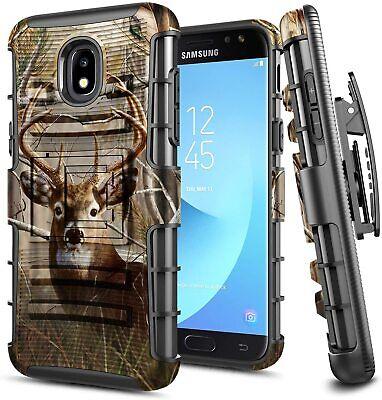 For Samsung Galaxy J7 Crown/Refine/Star Holster Case Belt Clip Kickstand Cover