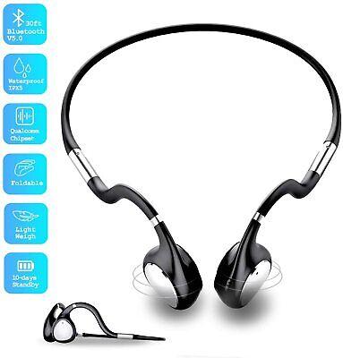 Ripple Bone Conduction Headphone - Bluetooth Headset with Mic - Open Ear Headset