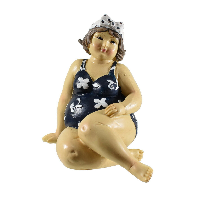 Frau Badeanzug Mollige Dicke Dame Lady Rubens Deko Retro Figur Skulptur Bikini