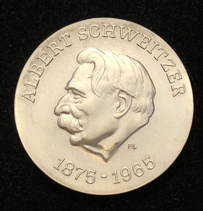 Germany 1975 10 Mark Albert Schweitzer Silver Coin BRILLIANT UNC
