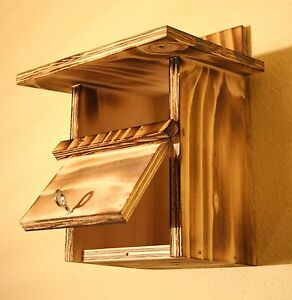 nistkasten rotkehlchen vogelh user ebay. Black Bedroom Furniture Sets. Home Design Ideas