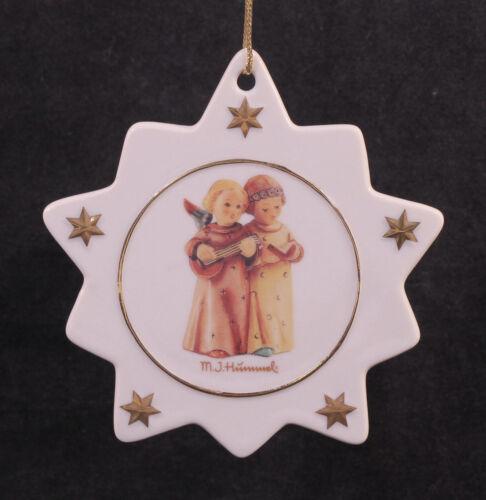 Vintage MJ Hummel Star Snowflake Christmas Ornament Angels 4 1/2 in Tall